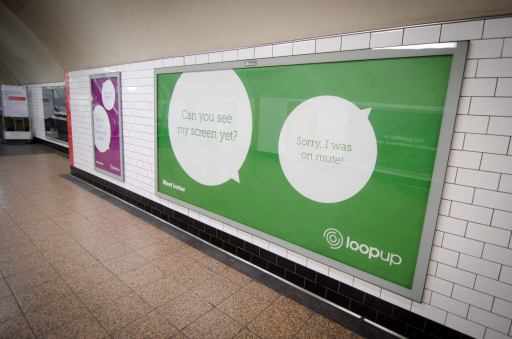 loopup london underground campaign st pauls on mute