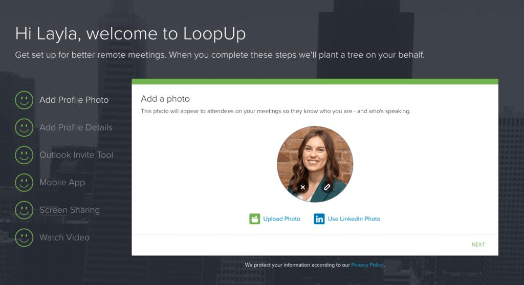LoopUp Set-Up Wizard