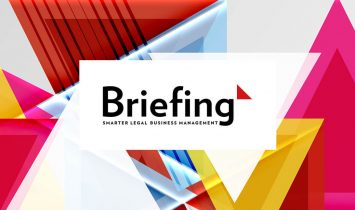 A cover for Briefing magazine research article about the remote meeting needs of law firms